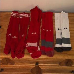 Adidas and Under Armour Soccer Socks